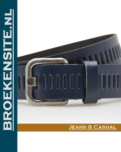 Riem Quality handgemaakt blauw TB 427-BL Broekensite jeans casual