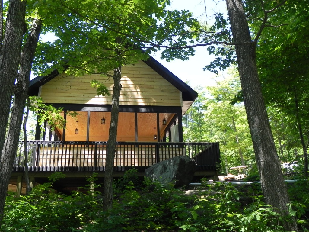 McDougall Cottage Left Side View of Screened Porch