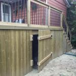 Gravenhurst Deck After Construction Crawlspace Access Door