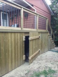 Gravenhurst Deck After Construction Crawlspace Access Door