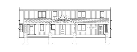 Rosseau Covered Porch Rebuild - Elevation of New Front View