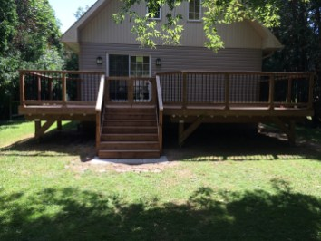 Innisfil Deck Rebuild - After Construction Front View