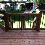 Innisfil Deck Rebuild - After Construction New Gate at Stairs