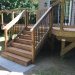 Innisfil Deck Rebuild - After Construction New Stairs Angled View