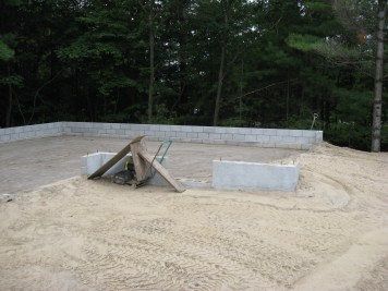 Partridge Bay Garage Before Construction Backfill In