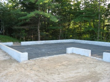 Partridge Bay Garage Before Construction Granular In