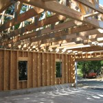 Partridge Bay Garage During Construction Interior Framing