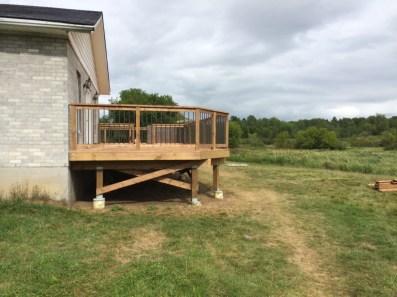Uxbridge Deck - After Construction Left Side View
