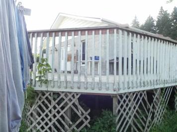 Uxbridge Deck - Before Construction Angled Corner