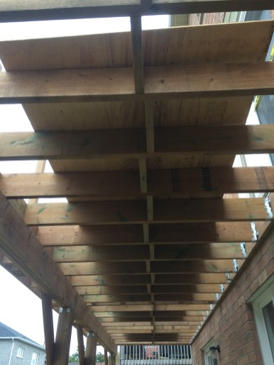 Newmarket Deck During Construction Joists In