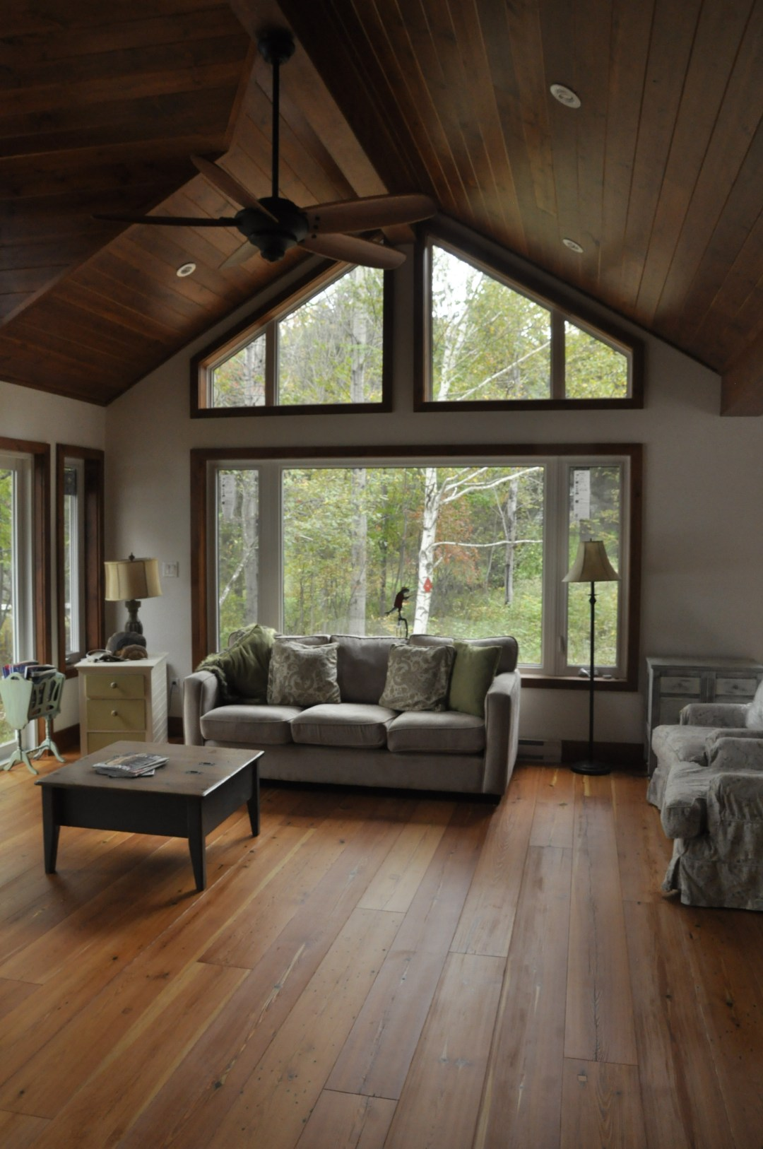 Lake of Bays Addtion - After Construction Interior of Living Room