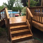 Keswick Deck - After Construction View of Stairs Looking Towards Rear