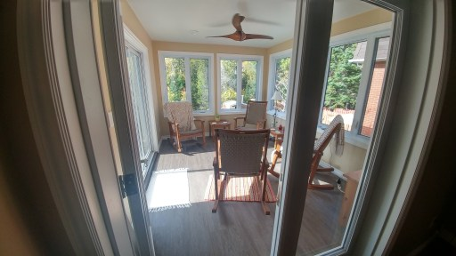 Lively Sunroom Addition Finished View from Door