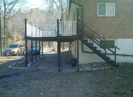 Tiny Deck Before Construction Stairs