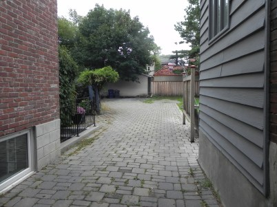 Toronto Garage Before Construction Existing Driveway