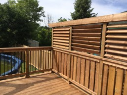 Keswick Pool Deck #2 - After Construction Privacy Wall Towards Rear