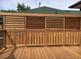 Keswick Pool Deck #2 - After Construction Privacy Wall