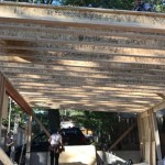 Toronto Upr Beach Laneway Garage During Construction Roof Joists
