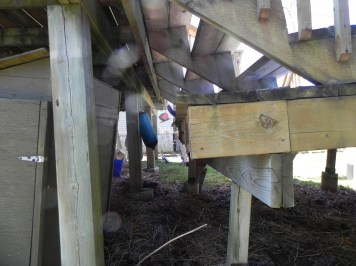 Elm Ave Deck - Before Construction Stair Landing Left
