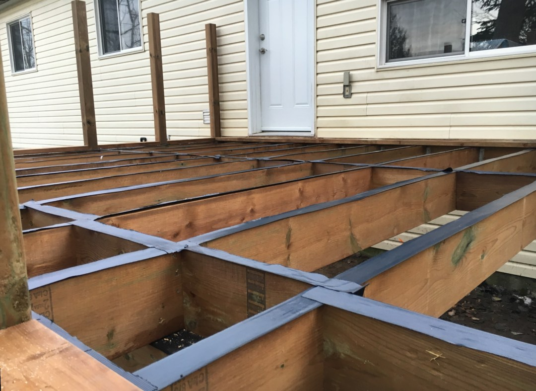 Angus Deck - During Construction Joist Tape