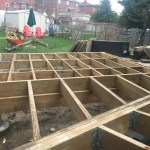 Bradford Deck - During Construction Framing Rear