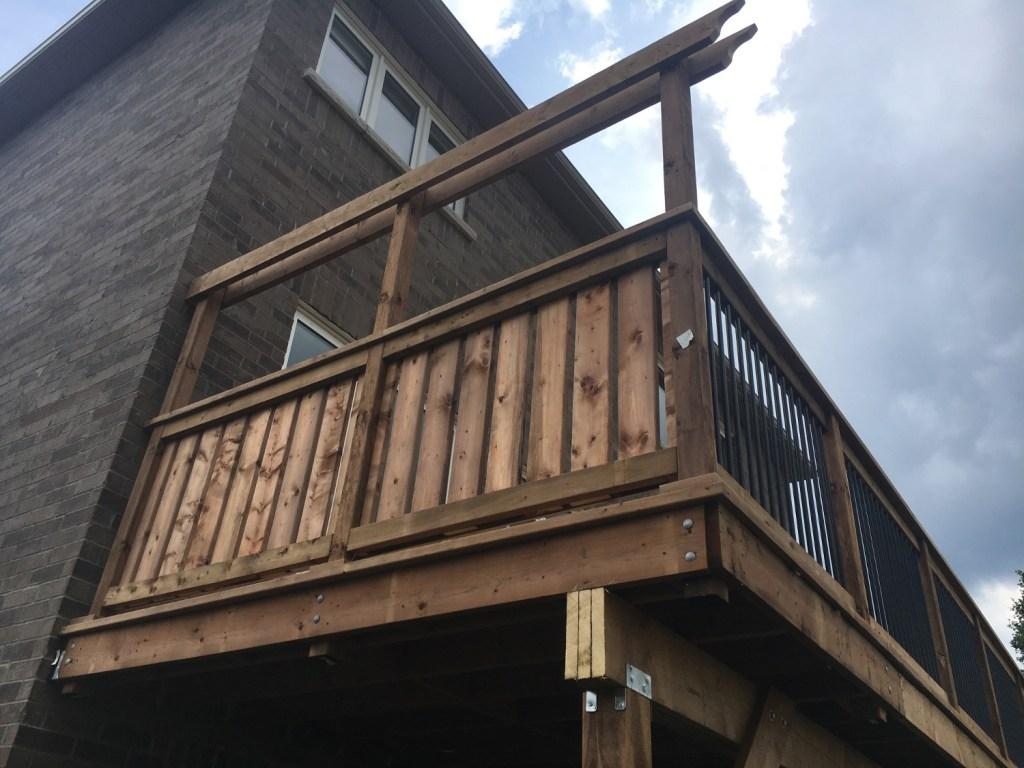 Keswick Deck 4 - After Construction Left Side Corner View