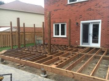 Doon Crescent Deck - During Construction Looking Left