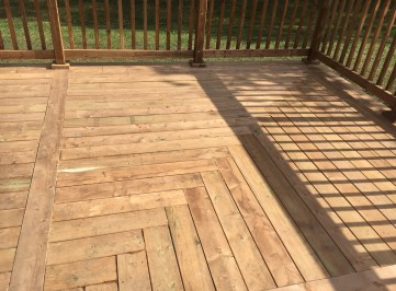 Willow Beach Deck 2 - After Construction - Herringbone Pattern