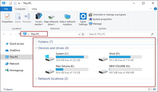 Disable Quick Access in Windows 10 File Explorer