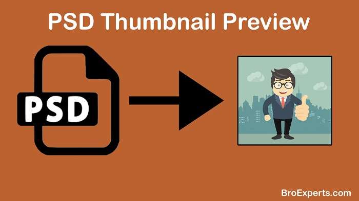Views PSD file as Thumbnail