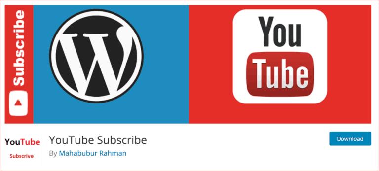 YouTube Subscribe WordPress