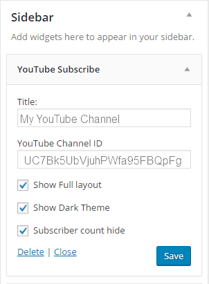 YouTube Subscribe Widget
