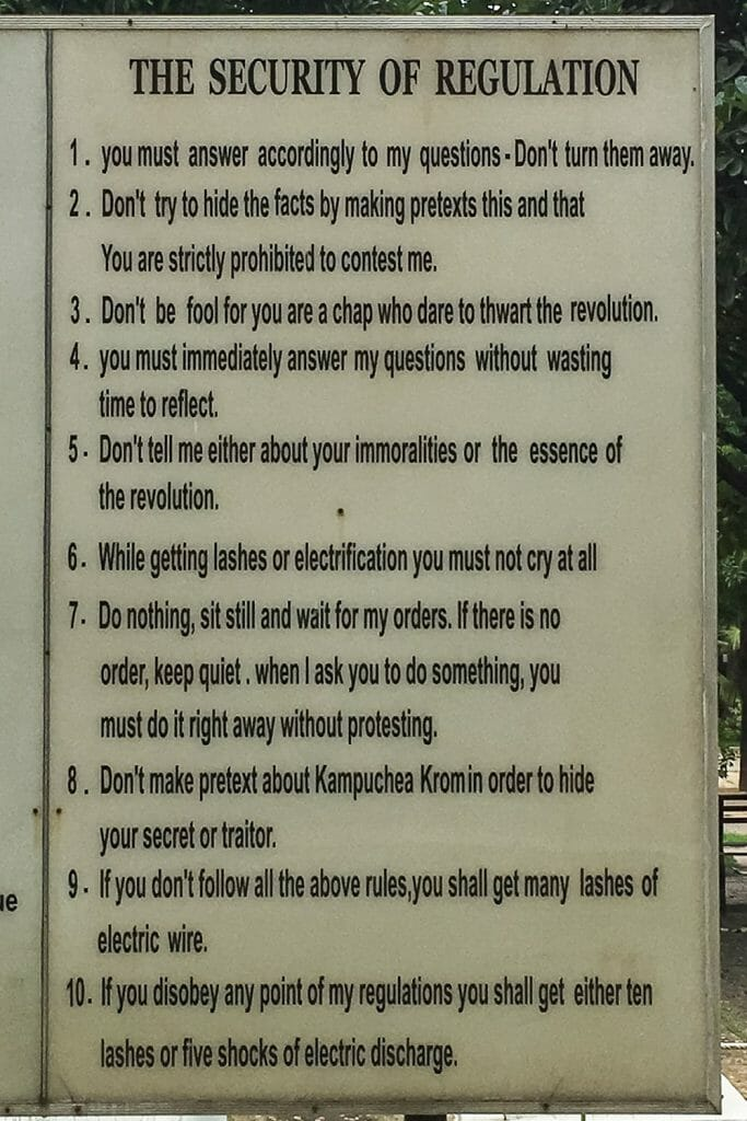 S21 Prison Rules Cambodia
