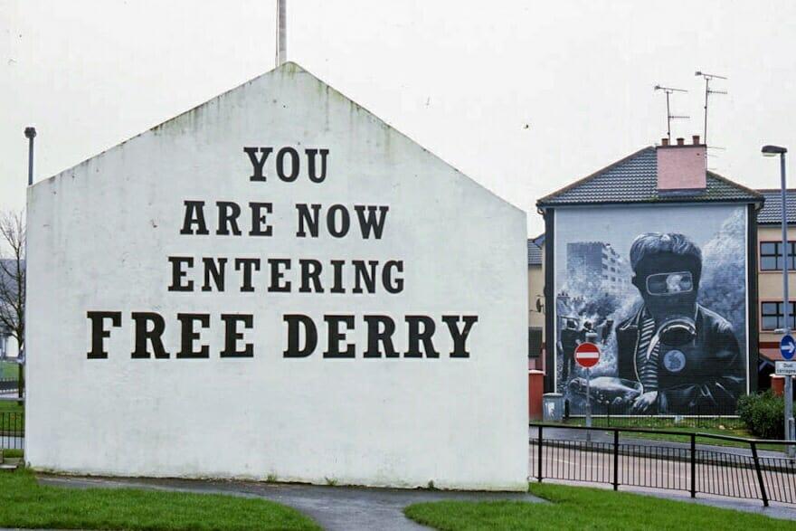 Bogside Free Derry Corner Northern Ireland Ulster Londonderry