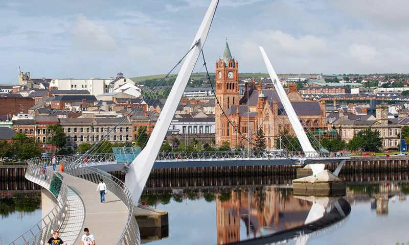 Peace Bridge Derry Northern Ireland Ulster Londonderry
