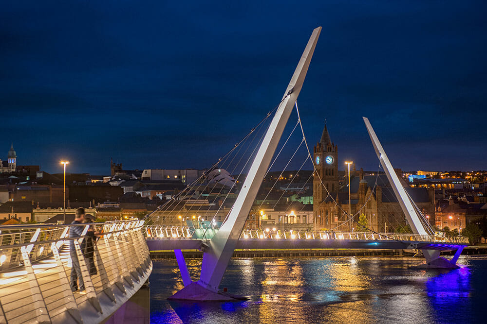 Peace Bridge Derry Northern Ireland Ulster Londonderry