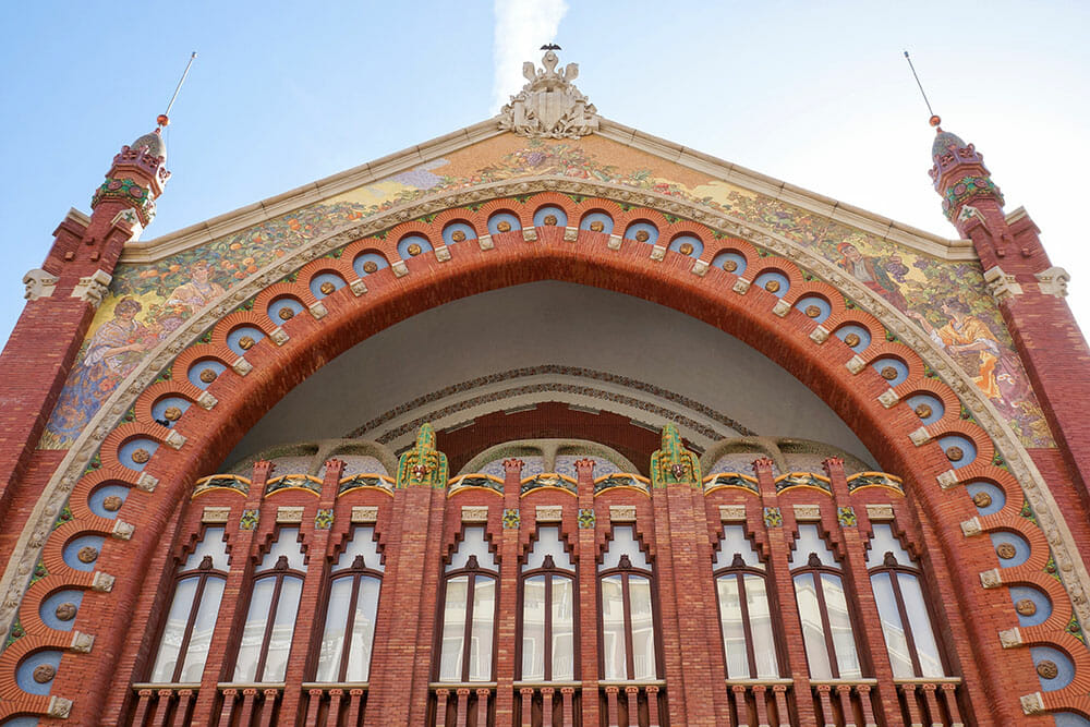 Modernist façade of the Colon Market in Valencia - Things to do in Valencia