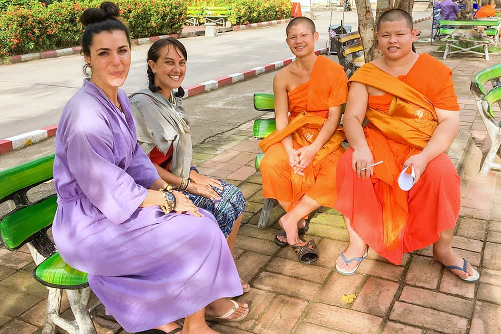 monk chat in Chiang Mai Thailand