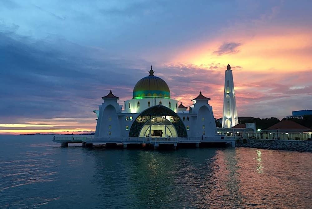 Malacca Straits Mosque Malaysia