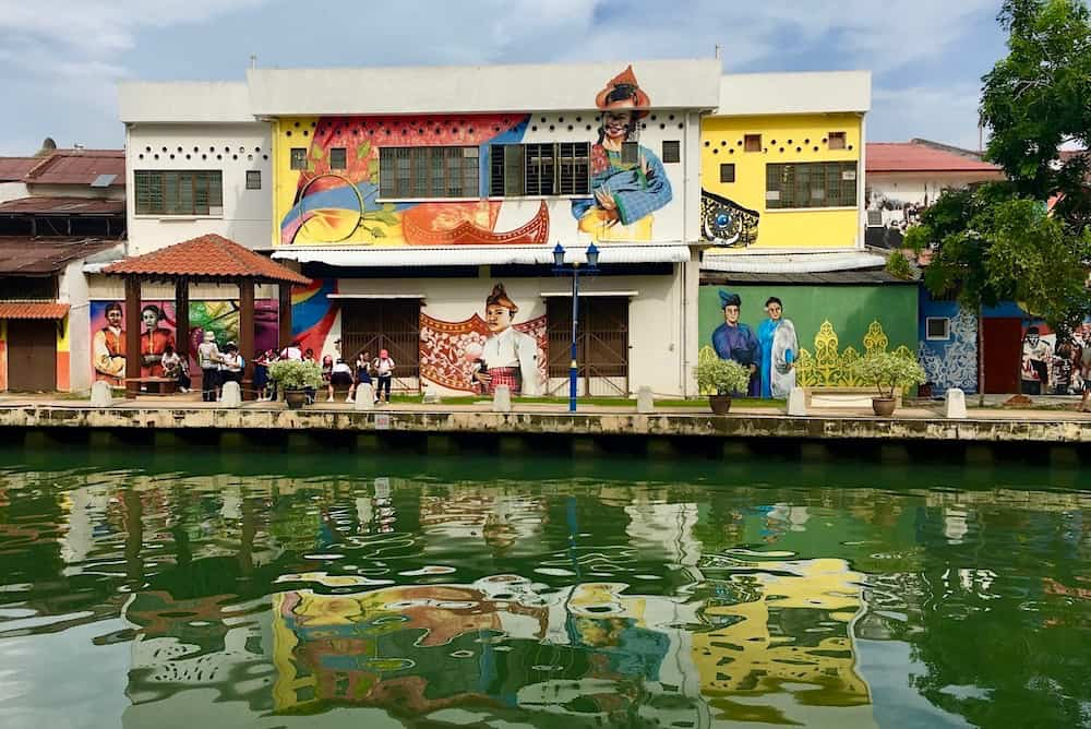 Street Art on the River in Malacca Malaysia