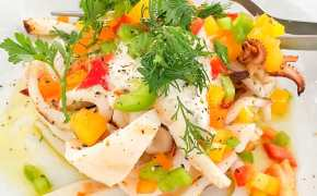 Greek Food Squid Salad