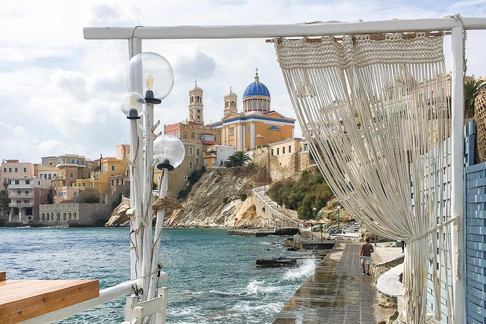 Agios Nikolaos from Asteria Bar Ermoupouli, Syros