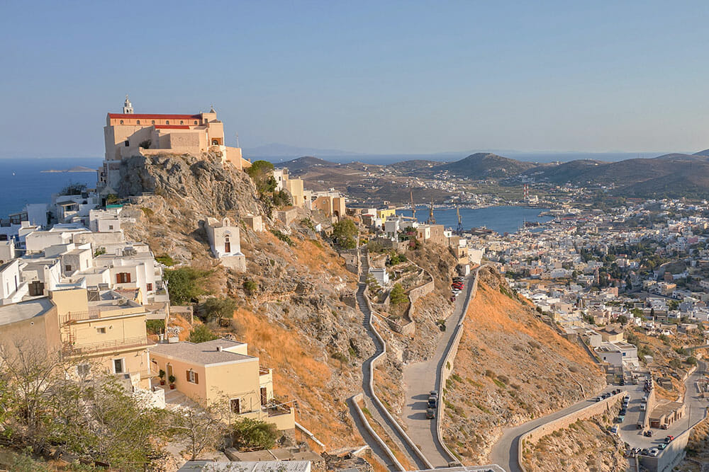 Ano Syros View, Syros