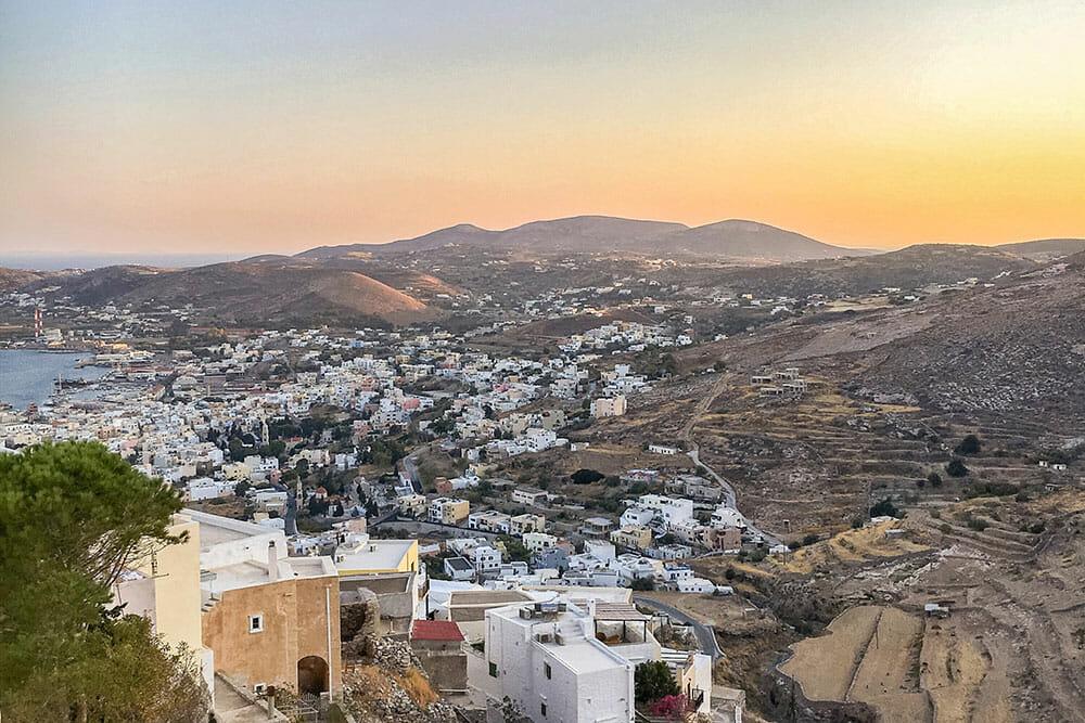 Sunset from Agios Giorgios, Syros