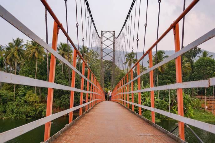 Inchathotty Suspension Bridge with no people - #kerala #india