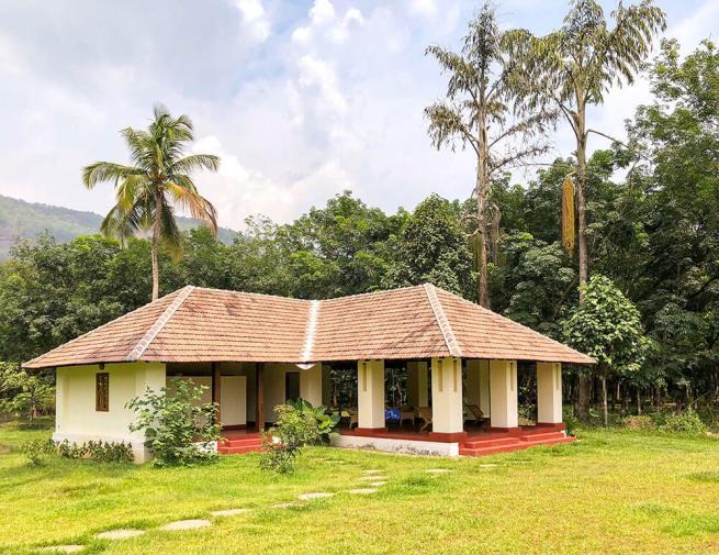 The yoga retreat building at Windermere River House in Neriamangalam - #kerala #india
