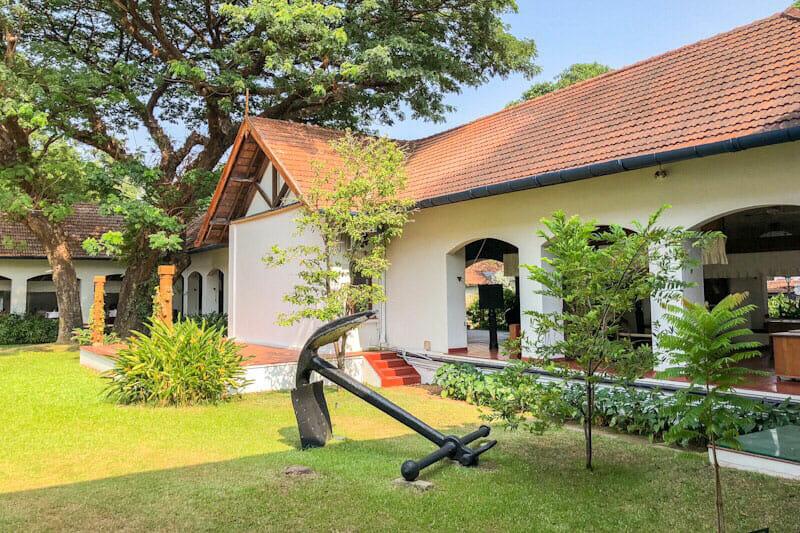 The courtyard at the Brunton Boatyard Hotel - #kochi #Kerala #India