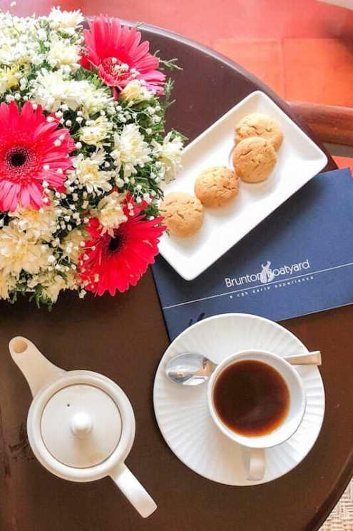 Tea is served at the Brunton Boatyard Hotel in Kochi