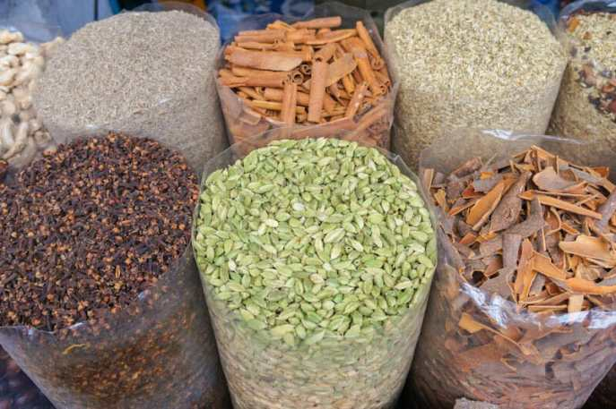 Spices in a shop in Kochi
