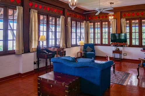 Living room in one of the Suites in Brunton Boatyard